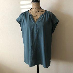 Ann Taylor cap sleeve blouse.
